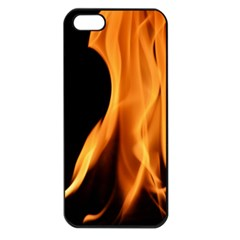Fire Flame Pillar Of Fire Heat Apple Iphone 5 Seamless Case (black)