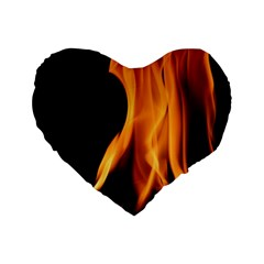 Fire Flame Pillar Of Fire Heat Standard 16  Premium Heart Shape Cushions