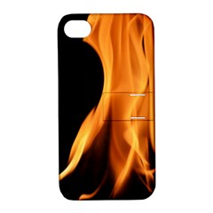 Fire Flame Pillar Of Fire Heat Apple Iphone 4/4s Hardshell Case With Stand