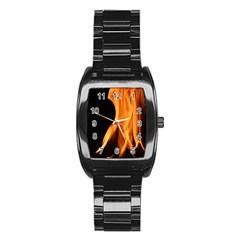 Fire Flame Pillar Of Fire Heat Stainless Steel Barrel Watch