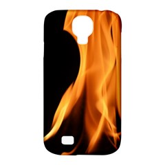 Fire Flame Pillar Of Fire Heat Samsung Galaxy S4 Classic Hardshell Case (pc+silicone)