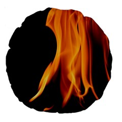 Fire Flame Pillar Of Fire Heat Large 18  Premium Flano Round Cushions