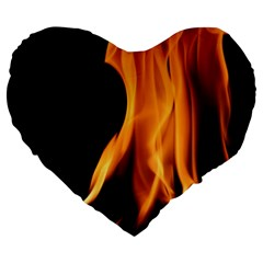 Fire Flame Pillar Of Fire Heat Large 19  Premium Flano Heart Shape Cushions