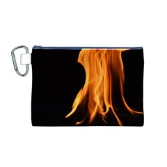 Fire Flame Pillar Of Fire Heat Canvas Cosmetic Bag (m)