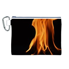 Fire Flame Pillar Of Fire Heat Canvas Cosmetic Bag (l)