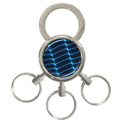 Background Light Glow Blue 3 Ring Key Chains