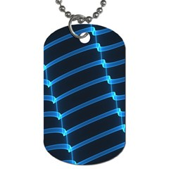 Background Light Glow Blue Dog Tag (one Side)