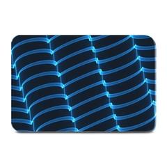 Background Light Glow Blue Plate Mats