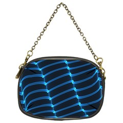 Background Light Glow Blue Chain Purses (one Side)