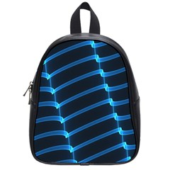 Background Light Glow Blue School Bags (small)