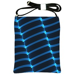 Background Light Glow Blue Shoulder Sling Bags