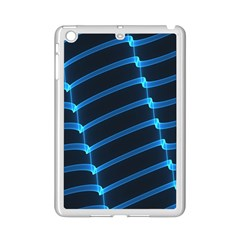 Background Light Glow Blue Ipad Mini 2 Enamel Coated Cases