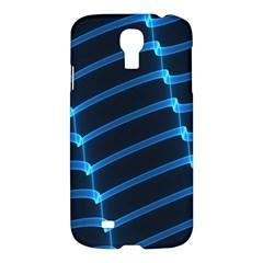 Background Light Glow Blue Samsung Galaxy S4 I9500/i9505 Hardshell Case