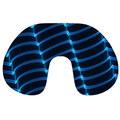 Background Light Glow Blue Travel Neck Pillows