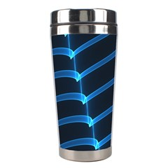 Background Light Glow Blue Stainless Steel Travel Tumblers