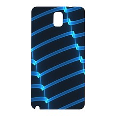 Background Light Glow Blue Samsung Galaxy Note 3 N9005 Hardshell Back Case