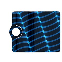 Background Light Glow Blue Kindle Fire Hdx 8 9  Flip 360 Case