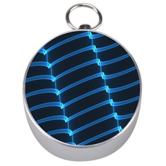 Background Light Glow Blue Silver Compasses