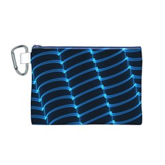 Background Light Glow Blue Canvas Cosmetic Bag (m)