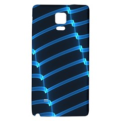 Background Light Glow Blue Galaxy Note 4 Back Case