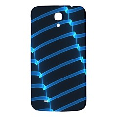 Background Light Glow Blue Samsung Galaxy Mega I9200 Hardshell Back Case