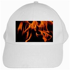 Fire Flame Heat Burn Hot White Cap