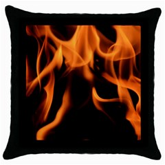 Fire Flame Heat Burn Hot Throw Pillow Case (black)