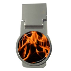 Fire Flame Heat Burn Hot Money Clips (round)