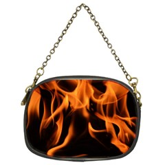 Fire Flame Heat Burn Hot Chain Purses (two Sides)