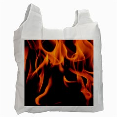 Fire Flame Heat Burn Hot Recycle Bag (one Side)