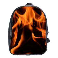 Fire Flame Heat Burn Hot School Bags(large)