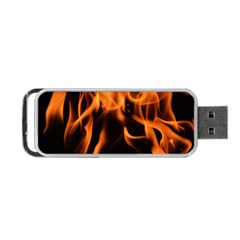 Fire Flame Heat Burn Hot Portable Usb Flash (two Sides)