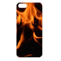 Fire Flame Heat Burn Hot Apple Iphone 5 Seamless Case (white)
