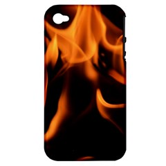 Fire Flame Heat Burn Hot Apple Iphone 4/4s Hardshell Case (pc+silicone)
