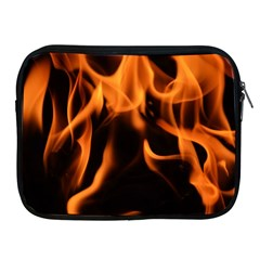 Fire Flame Heat Burn Hot Apple Ipad 2/3/4 Zipper Cases