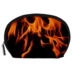 Fire Flame Heat Burn Hot Accessory Pouches (large)
