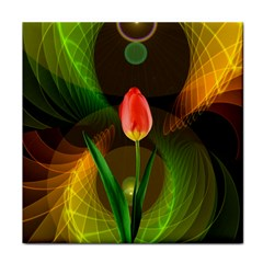 Tulip Flower Background Nebulous Tile Coasters
