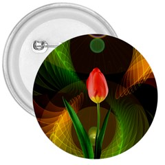 Tulip Flower Background Nebulous 3  Buttons
