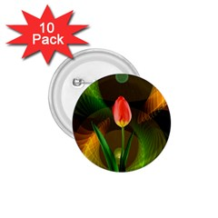 Tulip Flower Background Nebulous 1 75  Buttons (10 Pack)