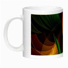 Tulip Flower Background Nebulous Night Luminous Mugs