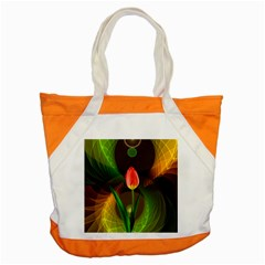 Tulip Flower Background Nebulous Accent Tote Bag
