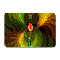Tulip Flower Background Nebulous Small Doormat
