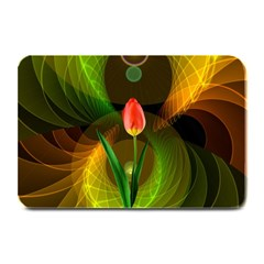 Tulip Flower Background Nebulous Plate Mats