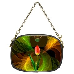 Tulip Flower Background Nebulous Chain Purses (two Sides)