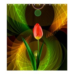 Tulip Flower Background Nebulous Shower Curtain 66  X 72  (large)