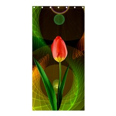 Tulip Flower Background Nebulous Shower Curtain 36  X 72  (stall)