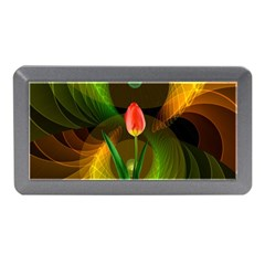 Tulip Flower Background Nebulous Memory Card Reader (mini)