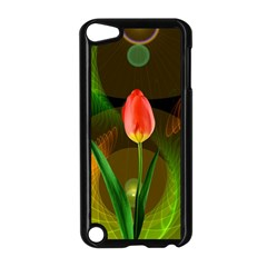 Tulip Flower Background Nebulous Apple Ipod Touch 5 Case (black)