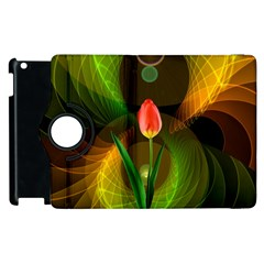 Tulip Flower Background Nebulous Apple Ipad 3/4 Flip 360 Case