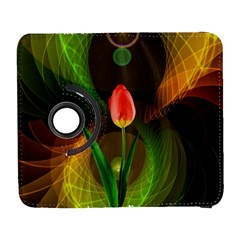 Tulip Flower Background Nebulous Galaxy S3 (flip/folio)